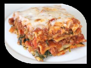 italian hot fork buffet lasagna