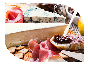 selection of cheese platters
