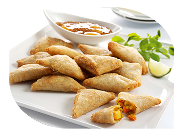 vegetarian samosas indian catering