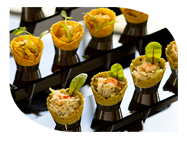 canapes in cones