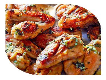 chicken wing sharing board