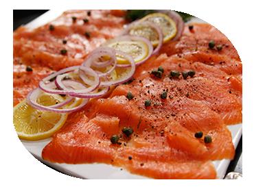 ravlax salmon sharing board