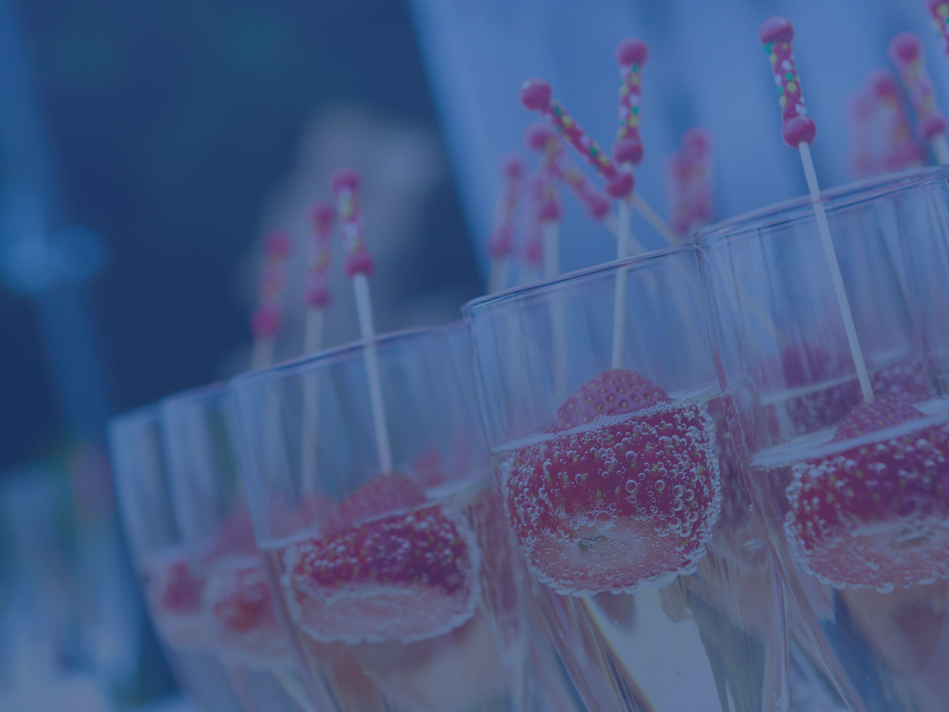 drink receptions with canapes